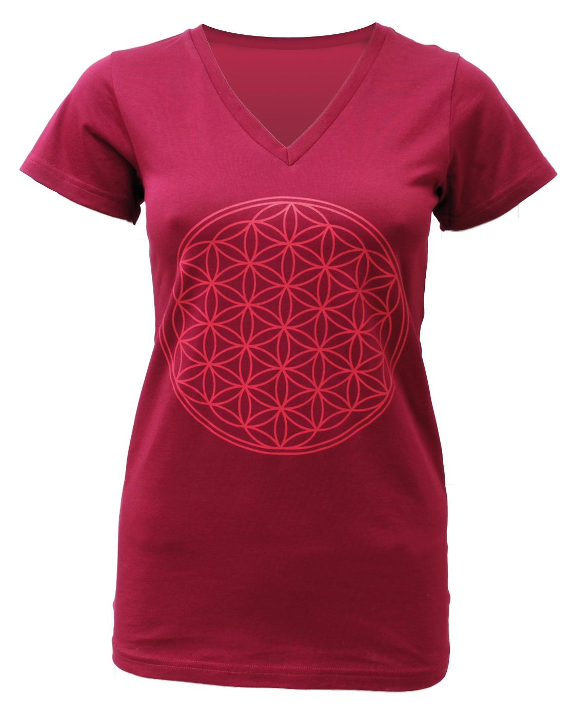 Yogi T Shirt Quot Flower Of Life Quot Bordeaux Buy Online At