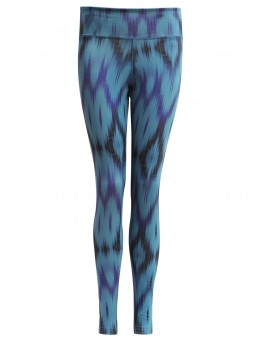 "Yoga-Leggings ""Devi"" - Ikat aqua S"