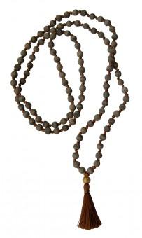 """Mala-Kette """"Vintage"""" - Holz Grau, Quaste Kupfer, Perle Gold Holz grau, Quaste Kupfer, Perle gold"""