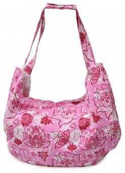 Yogatasche yogibag® active - maxi big - cotton - art collection lotus rose-red