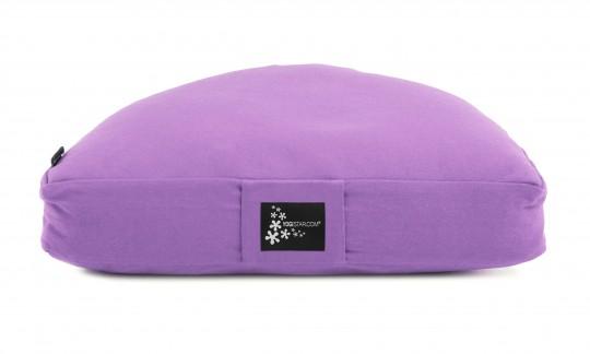 Meditation cushion - half moon lilac