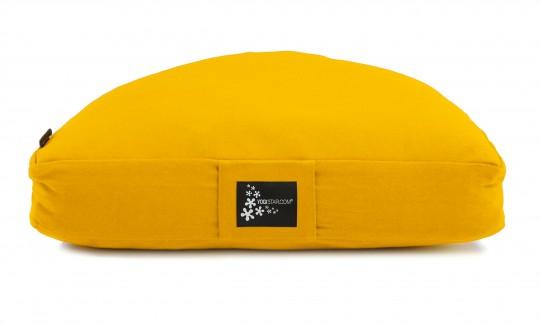 Meditation cushion - half moon yellow