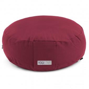 Meditation cushion - round bordeaux