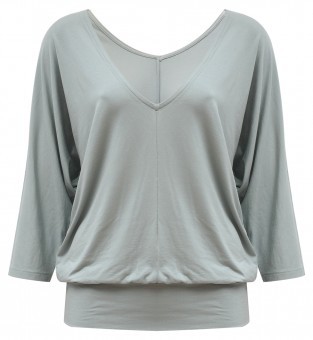 "Yoga-Shirt ""Sarasvati"" - grey-green"