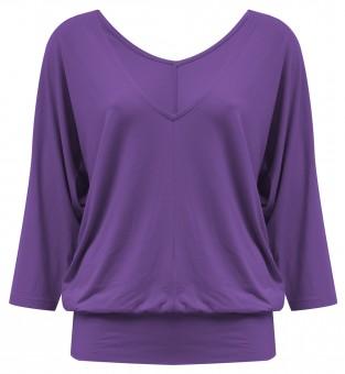 "Yoga-Shirt ""Sarasvati"" - purple XS"