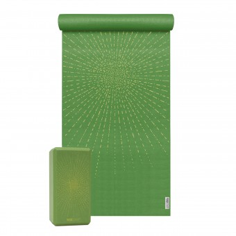 Yoga-Set Starter Edition - sparkling sunray (Yogamatte + 1 Yogablock)