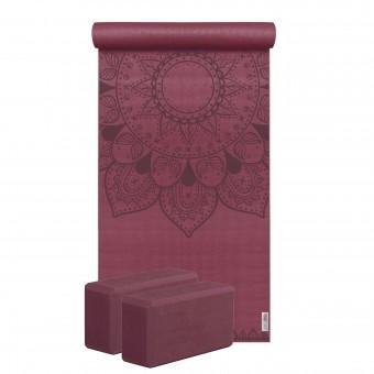 Yoga-Set Starter Edition - harmonic mandala (Yogamatte + 2 Yogablöcke)