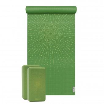 Yoga-Set Starter Edition - sparkling sunray (Yogamatte + 2 Yogablöcke)