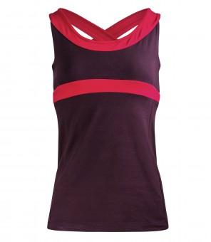 "Yoga-Racerback-Top ""Shape me"" - aubergine S"