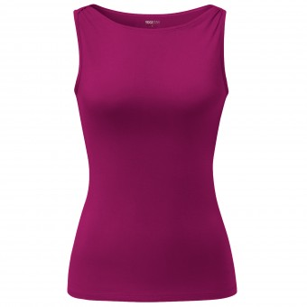 "Yoga-Top Boatneck ""ala"" - raspberry"
