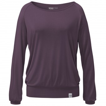 "Yoga-Longsleeve ""ala"" - elderberry"