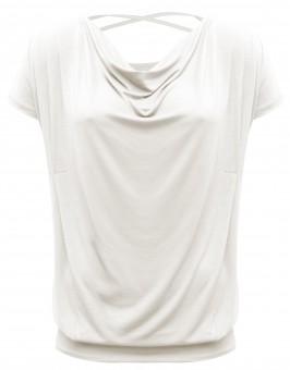 "Yoga-Shirt flowing batwing ""ala"" – ivory"