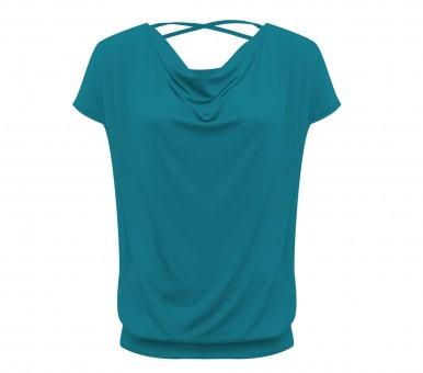 "Yoga-Shirt flowing batwing ""ala"" – petrol M"