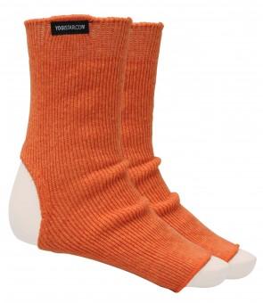 Yoga-Socken pumpkin apricot - Wolle