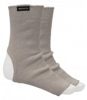 Yoga socks stone grey - Wolle