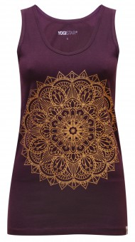 "Yoga-Tank-Top ""mandala"" - berry/gold"