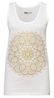 "Yoga-Tank-Top ""mandala"" - ivory/gold"