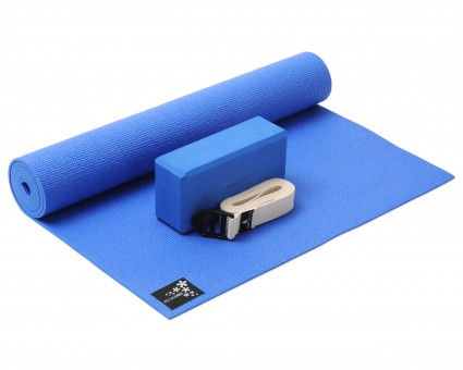 Yoga-Set Kick-It - One (Yoga mat + yoga block + yoga belt)