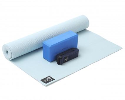 Yoga-Set Kick-It - One (Yoga mat + yoga block + yoga belt) sky