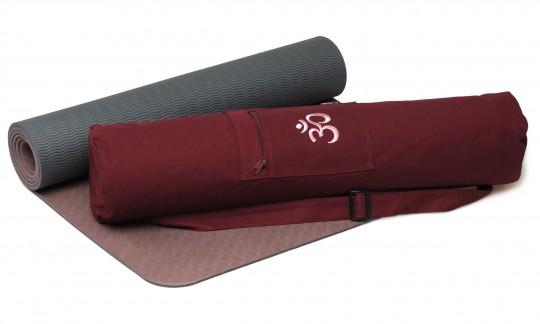 Yoga-Set Starter Edition - comfort (Yogamatte pro + Yogatasche OM) creme