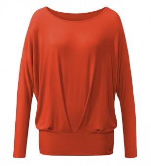 "Yoga-Shirt ""Pleats"" - paprika"