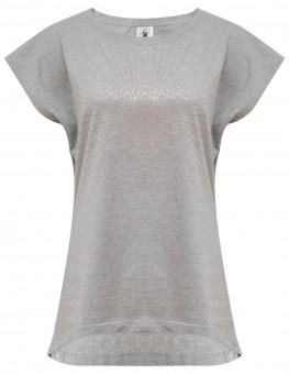 "Yoga-T-Shirt ""Batwing sunray"" - grey/copper"