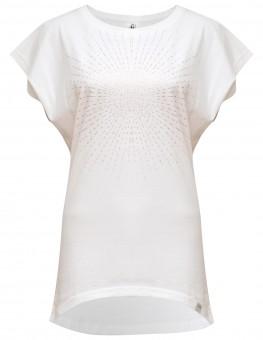 "Yoga-T-Shirt ""Batwing sunray"" - white/copper"