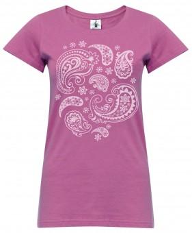 "Yoga-T-Shirt ""paisley"" - rose wine"