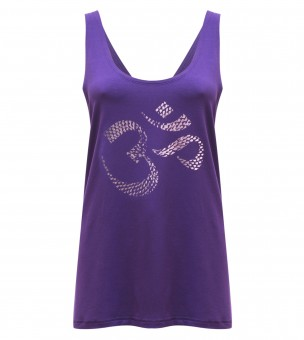 "Yoga-Tank-Top ""OM"" - purple"