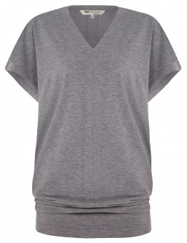 "Yoga-T-Shirt ""Freedom"" - pale grey marl"