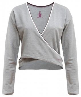 """Yoga-Shirt """"Rhianna"""" - greymelange"""