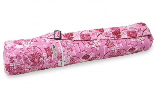 Yogatasche yogibag® basic - zip - cotton - art collection - 65 cm - lotus rose-red