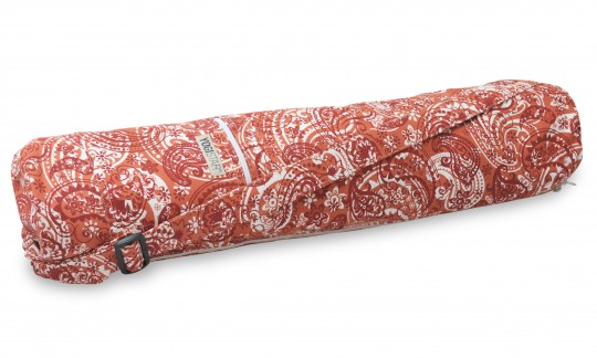 Yogatasche yogibag® basic - zip - cotton - art collection - 65 cm - paisley orange-red