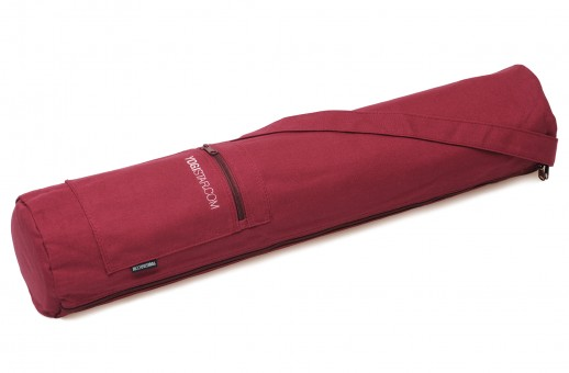 Yoga bag yogibag® basic - zip - cotton - 65 cm bordeaux