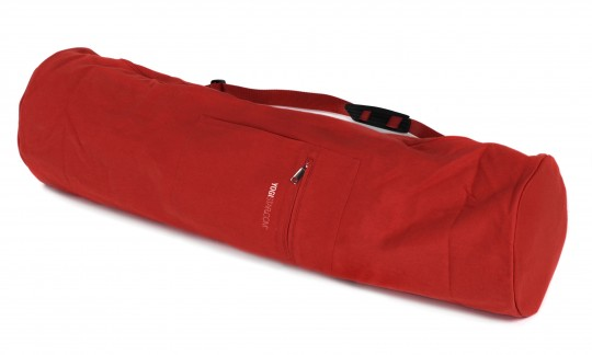 Yogatasche yogibag® basic - zip - extra big - cotton - 80 cm red