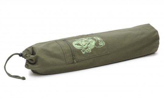 Yogatasche yogibag® basic - cotton - art collection - 65 cm ganesha - olive