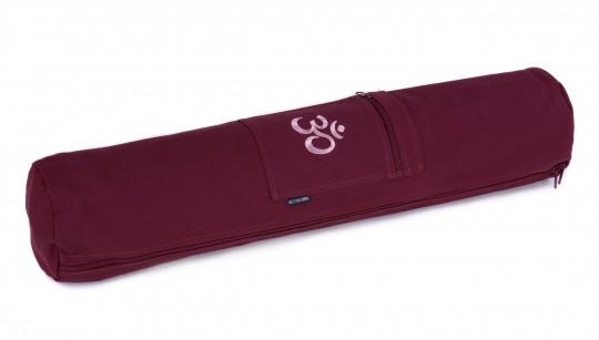 Yogatasche yogibag® basic - zip - cotton - 65 cm - OM bordeaux