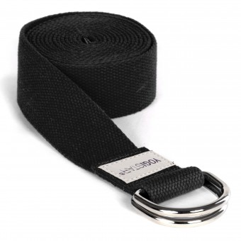 Yoga belt 'yogibelt' 260D black MD-Ring 260cm