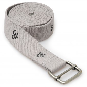 Yoga belt yogibelt 'OM', MB - grey