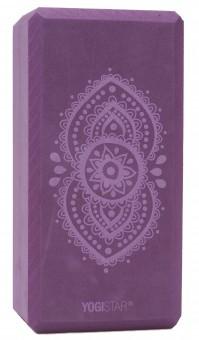 Yogablock yogiblock® basic - art collection - ajna chakra - aubergine