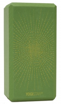 Yogablock yogiblock® basic - art collection - sparkling sunray - kiwi