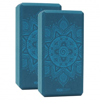 Yogablock yogiblock® basic - art collection - spiral mandala - petrol - 2er-Set
