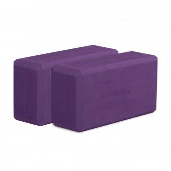 Yogablock yogiblock® basic - 2er-Set aubergine (Formamid-frei)