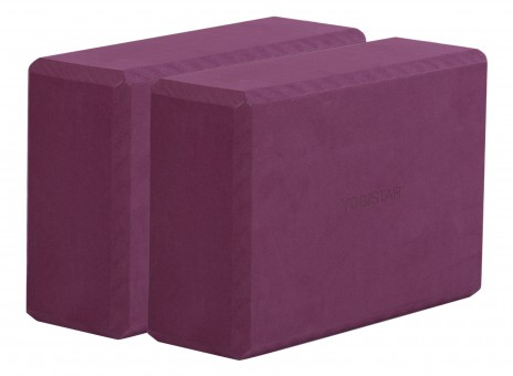 Yogablock yogiblock® big - 2er-Set bordeaux