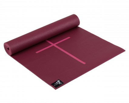 Yogamatte yogimat® plus - alignment bordeaux