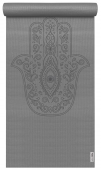 Yogamatte yogimat® basic - art collection - hand of fatima graphite