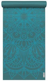 Yogamatte yogimat® basic - art collection - lotus mandala petrol