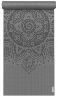 Yogamatte yogimat® basic - art collection - spiral mandala graphit