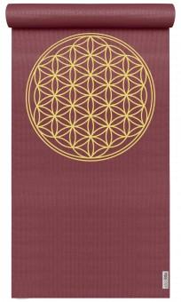 Yogamatte yogimat® basic - flower of life bordeaux