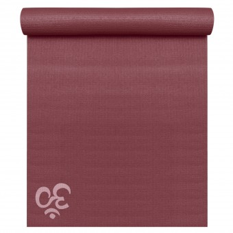 Yoga mat 'Basic OM' bordeaux